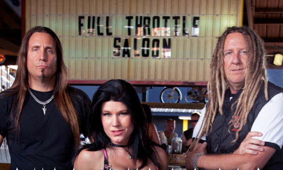 Jesse, Michael Ballard and Angie from The Full Throttle Saloon in